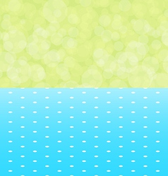 Green background boken and blue tablecloth with vector