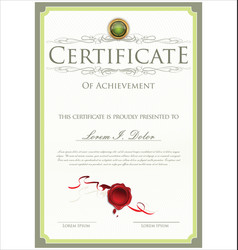 Green certificate template vector