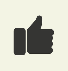 hand icon with i like it vector image