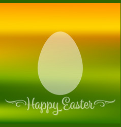 happy easter quote banner or greeting card with vector image