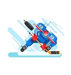Hockey player character vector image