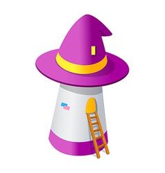 Icon magician hat vector
