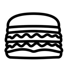 isolated hamburger icon vector image