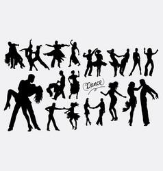 Latin dance tango salsa silhouette vector