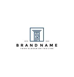 Letter as law logo design vector