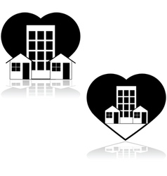 Love the neighborhood vector image