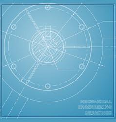 Mechanical engineering drawings engineering blue vector