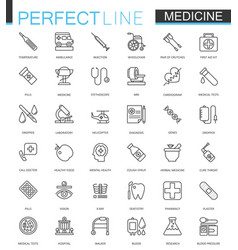 medical and healthcare thin line web icons set vector image