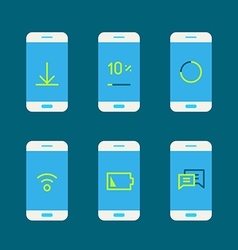 Modern gadget with different system messages vector