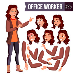 office worker woman professional officer vector image