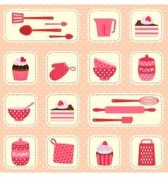 Pattern on baking theme vector