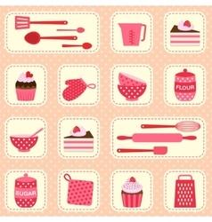 Pattern on baking theme vector