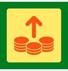 Payout Icon from Commerce Buttons OverColor Set vector image
