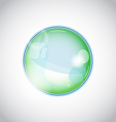 Pearl bubble ball isolated on white background vector