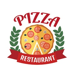 Pizza delivery logo Fast delivery logo Pizza logo vector image