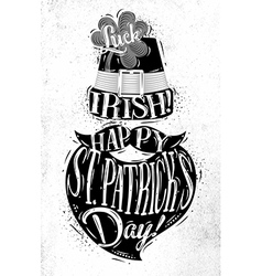 Poster St Patrick vector image