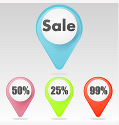 red sale icon vector image