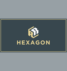 rr hexagon logo design inspiration vector image