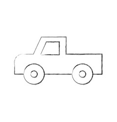 Safari van of plato isolated icon vector