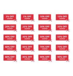 sale coupons discount tags and labels set vector image