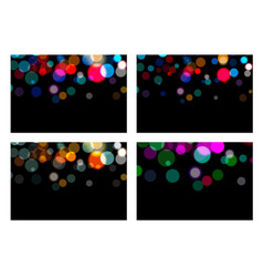 set of bokeh effect backdrop magic christmas vector image