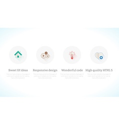 Set of flat design concept icons vector image vector image