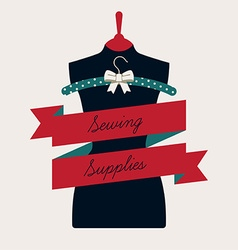 Sewing Supplies Banner vector