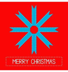 Snowflake made from ribbons Merry Christmas card vector
