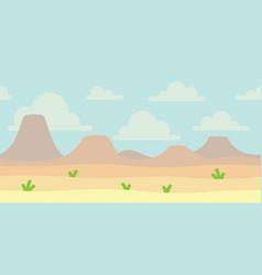 soft nature landscape with blue sky desert vector image
