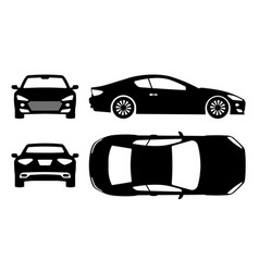 Sports car black icons vector
