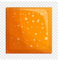 square biscuit icon cartoon style vector image