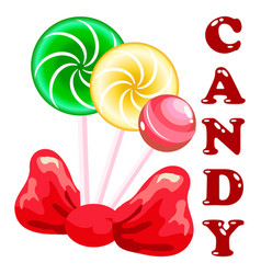 Sweet candy set vector