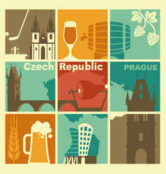 traditional symbols czech republic vector image