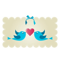 Twitter love couple birds vector