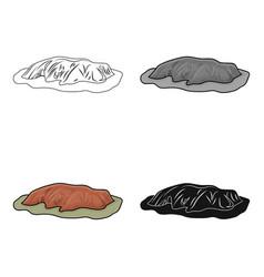 Uluru icon in cartoon style isolated on white vector