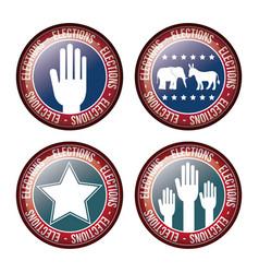 usa flag button of vote concept vector image