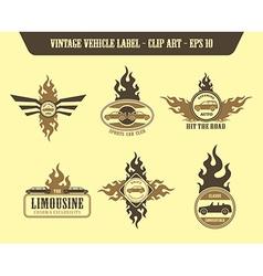 Vehicle label sticker vector