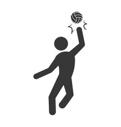 voleyball player pictogram vector image