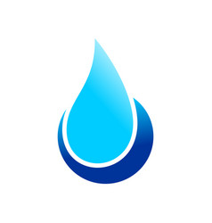 Water drop point symbol design vector
