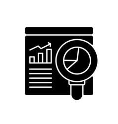 Web analyst black glyph icon vector