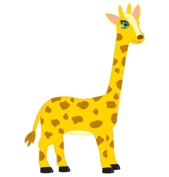 Cartoon animal giraffe vector image vector image
