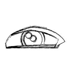 cartoon eye human look watch icon vector image vector image