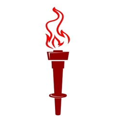 Flaming torch icon vector image vector image