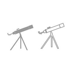Telescope the grey set icon vector