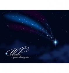 Wish upon a shooting star vector