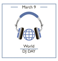 World Dj Day vector image vector image