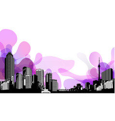 abstract sky with cityscape vector image vector image