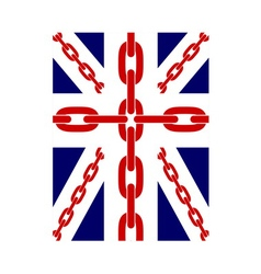 British flag t shirt typography chain vector image vector image