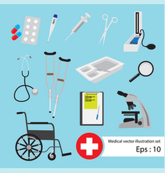 flat medical set vector image