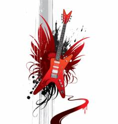 heavy guitar vector image